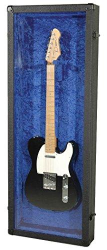Grundorf Corporation GD-4616SB Guitar Display Case Carpeted Case and Plexi, Glass Black