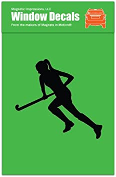 Euro Field Hockey Graphic Decal Sticker Car Wall Oval NOT Two Colors