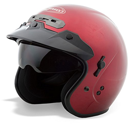 GMax GM32 Candy Red Open Face Helmet - Large