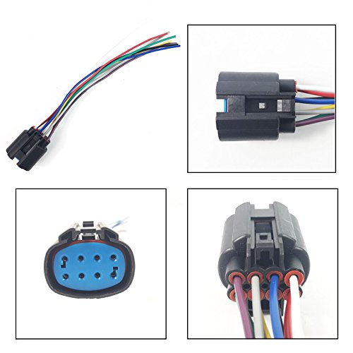 CONNECTOR PLUG EXTENSION WIRING HARNESS LOOM (8 PIN / FEMALE):