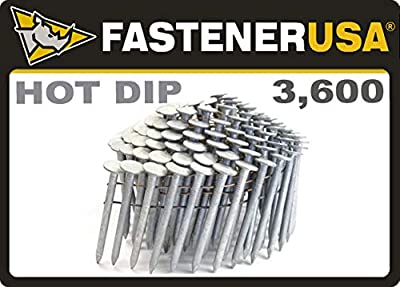 """2"""" Smooth A153-D HOT Dip Coil Roofing Nails 3.6M Box"""
