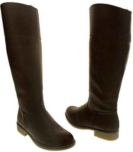 tex® Gagnant De 3 Chaud Bottes Des 5 Doublé 7 Keddo Démarrage Taille Femmes Dames 8 De Cuir 4 Marron Faux Chaussures Haute Genou Atelier 6 qOA7q