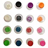 EGME 16 Pcs Colorful Replacement Thumbsticks (Analog Sticks) for Xbox 360 Controller