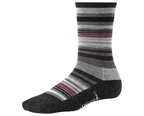 (Smartwool Women's Jovian Stripe Charcoal Heather M Sock)