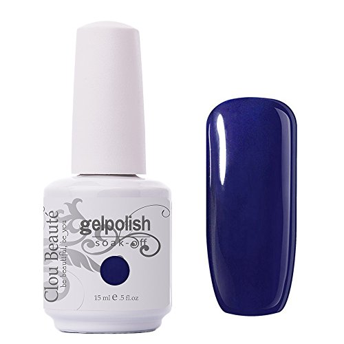 h 15ml Soak Off UV Led Gel Polish Lacquer Nail Art Manicure Varnish Color Royal Blue 1414 ()