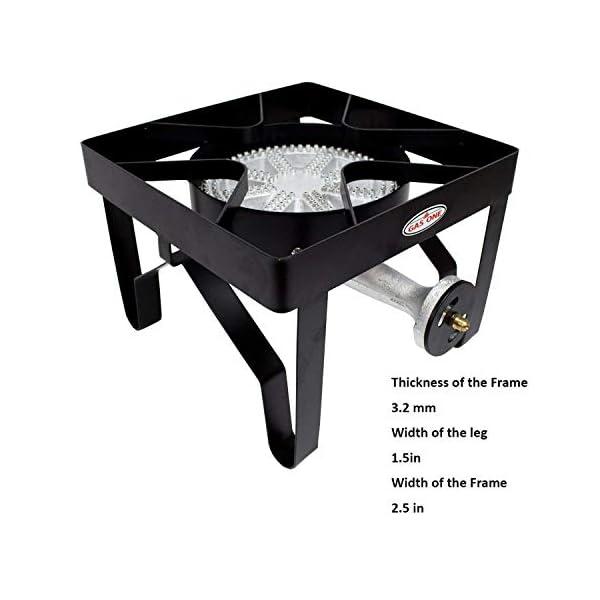 GasOne 200, 000 BTU Square Heavy- Duty Single Burner Outdoor Stove Propane Gas Cooker with Adjustable 0-20Psi Regulator… 7