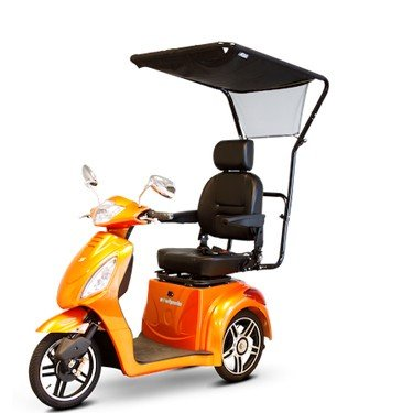 E-Wheels Sun Shade Blue Hawk Canopy for Mobility Scooters in Black