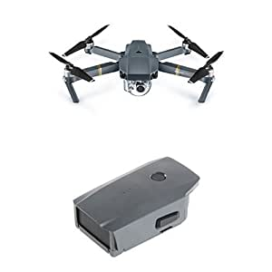 DJI - Mavic Pro Quadcopter with Remote Controller - Gray + Additional Battery