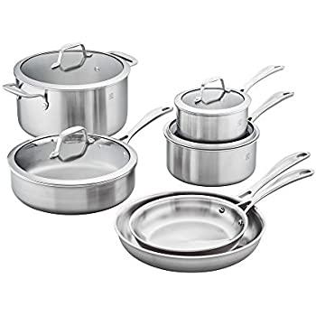 ZWILLING Spirit 3-ply 10-pc Stainless Steel Cookware Set