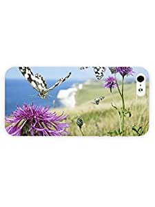 3d Full Wrap Case for iPhone ipod touch4 Animal Butterflies On Common Knapweed