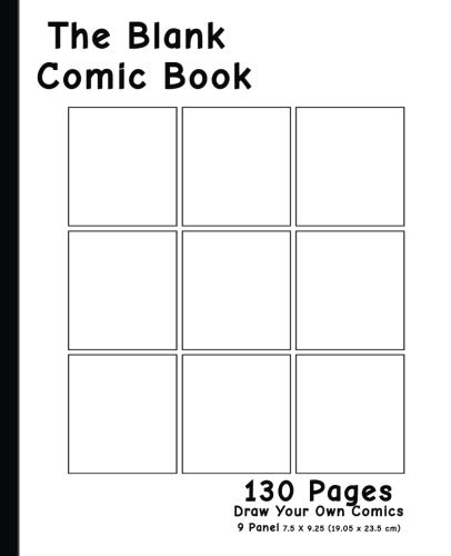 - Blank Comic Book - 9 Panel Layout: 7.5 x 9.25, 130 Pages,For drawing your own comics, ideas and sketches