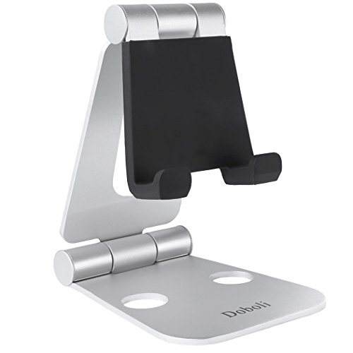 Universal Foldable Metal Stand for Tablets and Smartphones (Silver) - 5