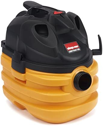 Shop-Vac 5872810 6.0 Peak HP Heavy Duty Portable Vacuum 5 gallon Yellow Black with Cord Tool Storage Multifunction Accessories, Uses Type BB Cartridge Filter Type H Filter Bag