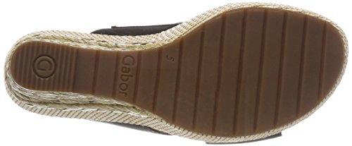 Negro Sport Comfort Bast Pulsera para con Shoes Sandalia Mujer Schwarz Gabor aTpwq8x