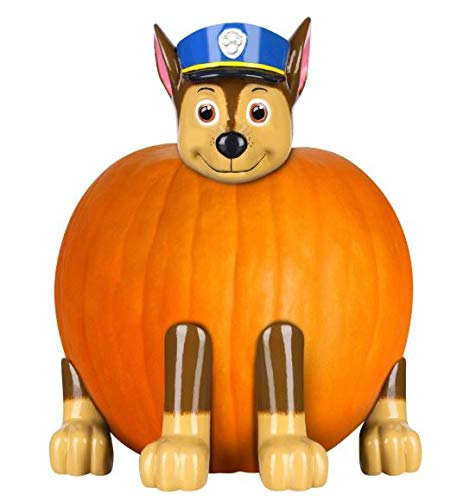 Gemmy Paw Patrol Chase the Police Pup Pumpkin Push-In Kit Halloween Prop]()