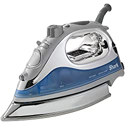 "Shark Powerful Lightweight Professional Steam Iron auto-Off with Cord with 8.5"" Premium Stainless Steel Sole Plate and 1500 watts, Blue - GI468NN (Certified Refurbished)…"