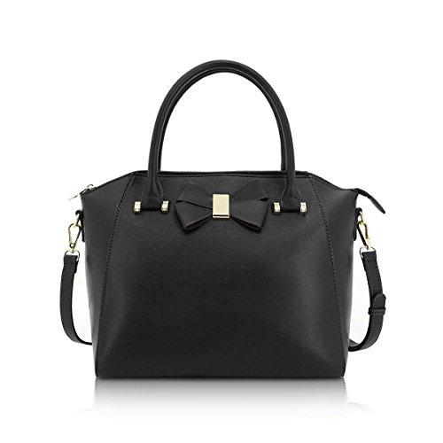 Handbag Ladies GA60589 Black Anna Tote Bow Bag Women's Smith qYaAPYx6