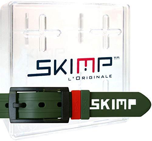 SKIMP(スキンプ) フランスブランド ラバーベルト ゴルフ シリコン ゴム 金属アレルギー 汗水対策 大きい ロングサイズ メンズ レディース ループ付 140cm 幅約3.4cm