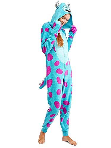 Disney Women's One Piece Pajama Set Union Suit Sleepwear (Sulley 2, 1X) ()