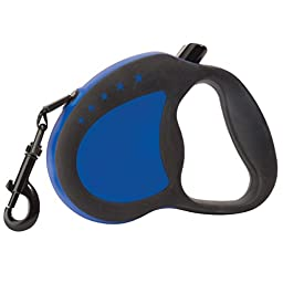 Guardian Gear Reflective Retractable Belt-Style Dog Leash, 12\' Lead, Medium, Royal Blue