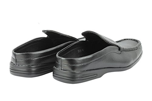 Xposed Mens Smart Casual Faux Leather Half Shoes Back Less Slip Ons Summer Sandals In Black White Black 36dZnfKD4