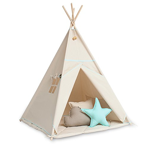 Tipi Set mit Bodenmatte - Natural Mint