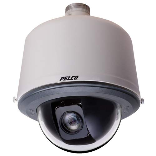 Smoked Grey Lens - PELCO S6230-ESG0 2 Megapixel Spectra Enhanced HD Environmental Stainless Steel Pendant IP Network High-Speed PTZ Smoked Lower Dome, 30X Lens, Gray