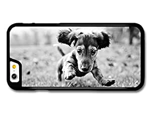 diy case Cute Dog Jumping On The Grass Black & White case for iPhone 5c