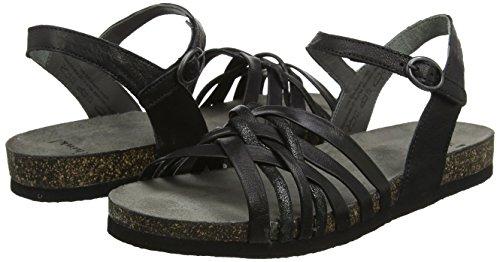 sz 282596 Sz Think Shik 09 kombi Sandals Women''s Black kombi Ankle 09 Strap nv0EOxvf