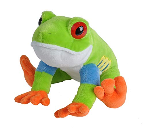Wild Republic Red-Eyed Tree Frog Plush, Stuffed Animal, Plush Toy, Gifts for Kids, Cuddlekins 12 Inches ()