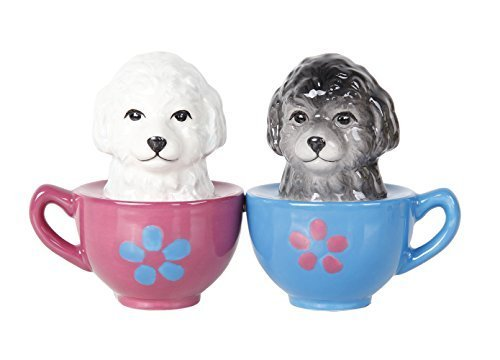 Pacific Giftware Adorable Maltese Puppies in Tea Cup Salt and Pepper Shaker Set Cute Dog Puppy Tabletop Decoration SP (Maltese Teacup Dog)
