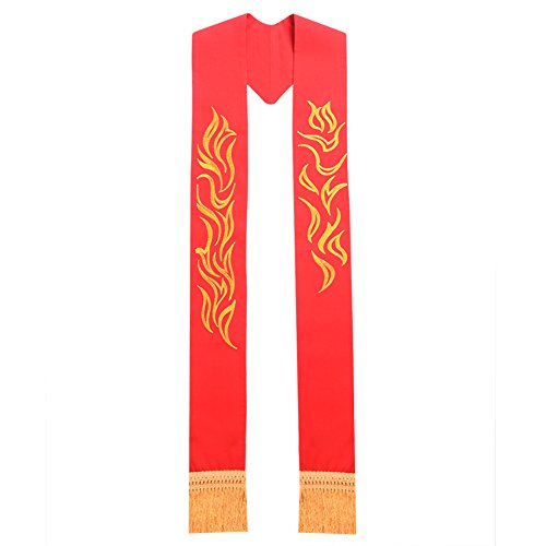 BLESSUME Red Chasuble Stole Vestments Embroidery Stole