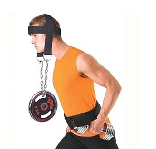 Cup Team Costumes Flip (Angelwing Head Harness Belt Neck Weight Lifting Strength Exercise Strap Body Building Sport Fitness)