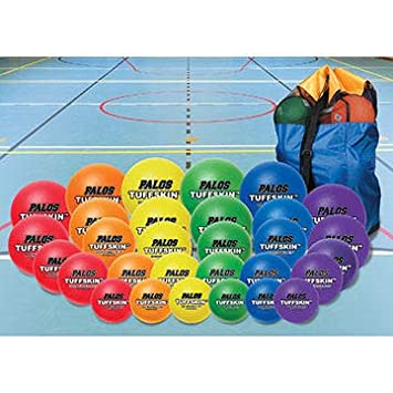 Amazon.com: TuffSKIN™ Foam Dodgeball Class Pack 30ct with ...