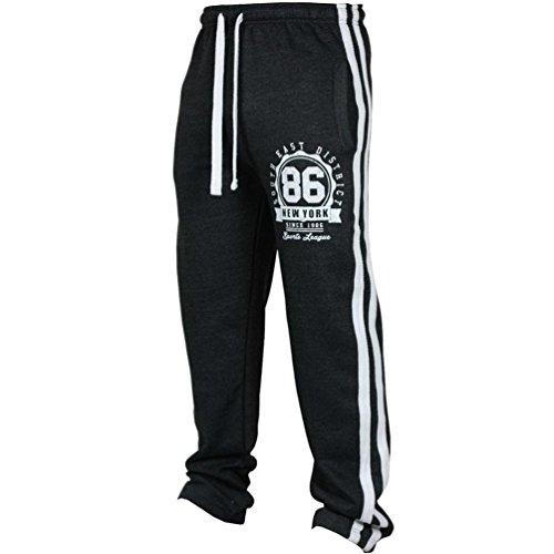 iZHH Fashion Men's Sport Fitness Pants Casual Loose Sweatpants Drawstring(Black,38)
