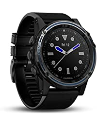 Descent Mk1, Watch-Sized Dive Computer with Surface GPS, Includes Fitness Features, Sapphire Gray Titanium Bezel with Black Band