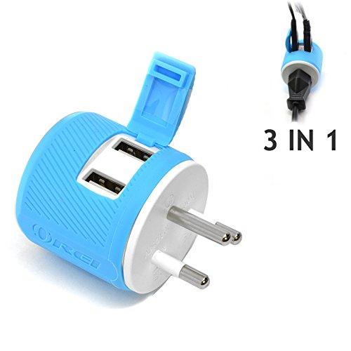 Orei U2U-18 OREI Thailand Travel Plug Adapter - Dual USB - Surge Protection - Type O