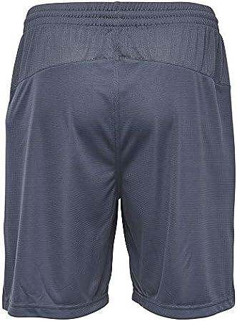 hummel AUTH Charge Poly Pantalones Cortos, Hombre, Color Ombre Blue/Nasturtium, tamaño Large