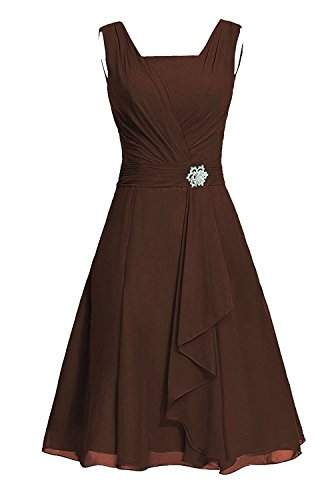 VaniaDress Women A Line Sleeveless Short Prom Dress Bridesmaid Gowns V290LF Chocolate US20W from VaniaDress