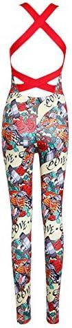 Dreamyth-Summer Women Backless Sleeveless Bandage Sport Yoga Fitness Jumpsuit 2020 6