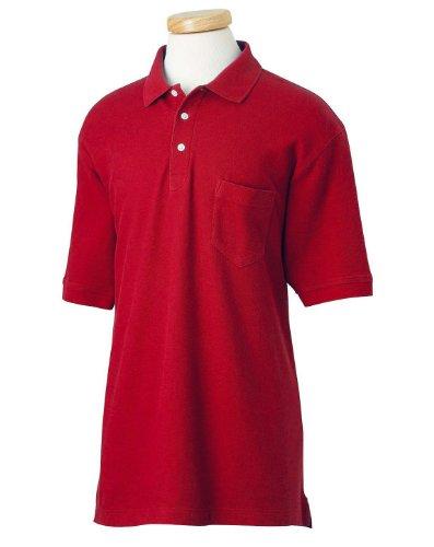 Performance Plus Pique Polo - Chestnut Hill Men's Performance Plus Pique Polo Sport Shirt with Pocket CH100P red XXXX-Large