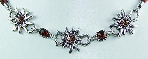 Trachten Halskette Collier Selina - Dunkelbraun