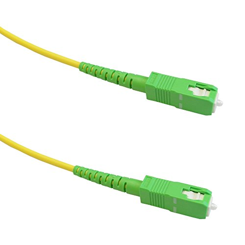 (50ft (15m) singlemode simplex SC/APC to SC/APC 9 micron Fiber Cable - 3mm jacket LSZH )