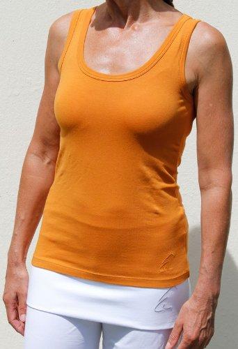 Esparto - Camiseta sin mangas de yoga para mujer (algodón orgánico, talla XS - XL, Negro - Anthrazit (Schwarz)