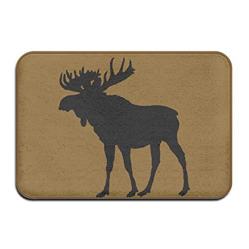 PeiLongO Fashion Doormat with Moose Silhouette Pattern Bath Mat for Indoor/Outdoor/Front Door/Bedroom