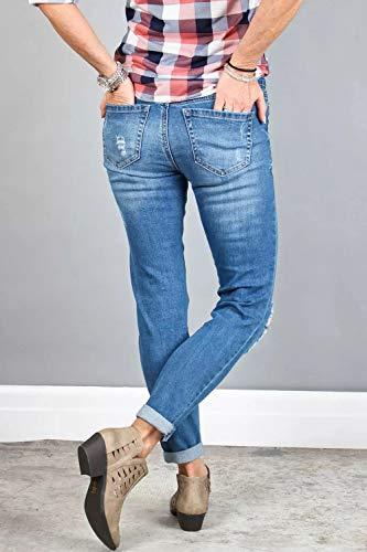 Ybenlover - Jeans - Femme Bleu