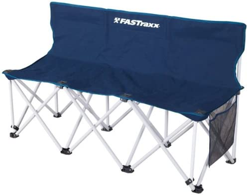 Portable Seater Folding Bench Sport Sideline Chair 3//4//6//8 Person Seats Red Blue