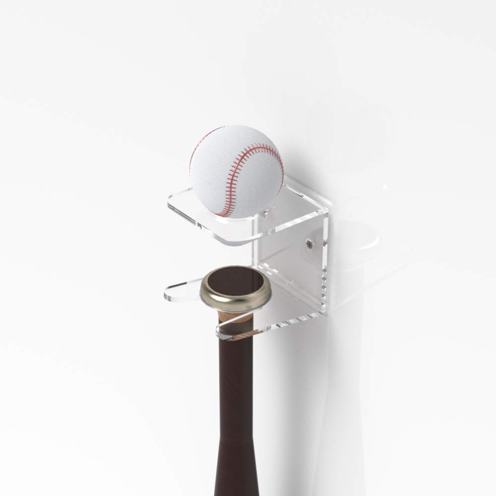 Plexico Soporte/soporte de pared pelota de béisbol bate de béisbol y bola Soporte
