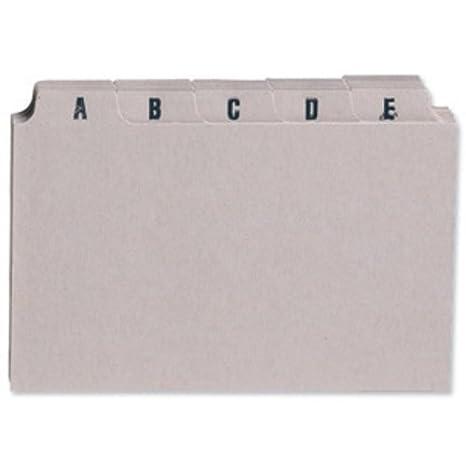 5 Star - Separatore alfabetico A-Z con 25 cartelle divisorie 152 x 102 mm Spicers Ltd 295772