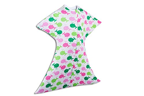 Zipadee-Zip (LARGE 12-24 Months(26-34lbs-Up to 39 Inches long), Pink And Green - Green And Store Pink